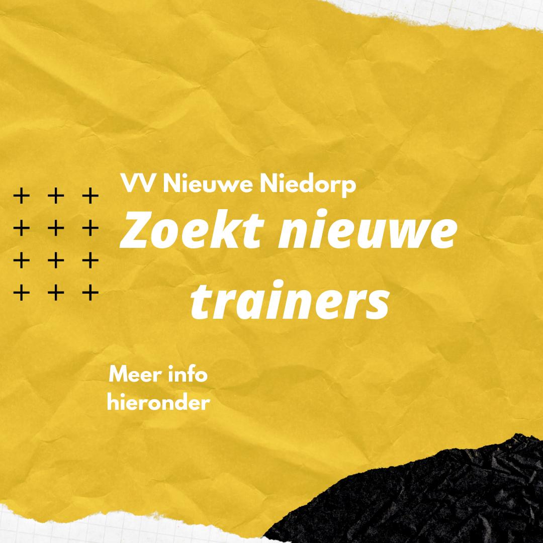 VV Nieuwe Niedorp zoekt trainers